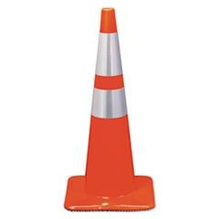 Reflective Safety Cone, 12 3/4 x 12 3/4 x 28, Orange