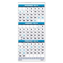 Three-Month Format Wall Calendar, 8 x 17, 14-Month (Dec.-Jan.) 2015-2017