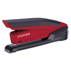 InPower Spring-Powered Desktop Stapler, 20-Sheet Capacity, Red