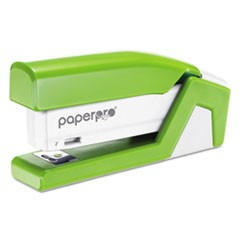 1InJoy Spring-Powered Compact Stapler, 20-Sheet Capacity, Green