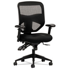 VL532 Mesh High-Back Task Chair, Supports up to 250 lbs., Black Seat/Black Back, Black Base