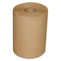 "Hardwound Roll Towels, 7 7/8"" x 300 ft, Brown, 12/Carton"