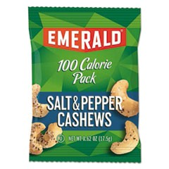 100 Calorie Pack Nuts, Salt and Pepper Cashews, 0.62 oz Pack, 7/Box