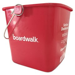 Sanitizing Bucket, 6 qt, Red, Plastic