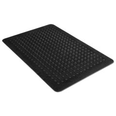 Flex Step Rubber Anti-Fatigue Mat, Polypropylene, 24 x 36, Black