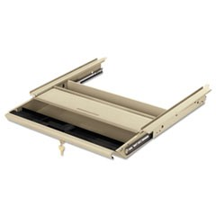 Center Drawer w/Core Removable Locks, 38000 Series, 19 x 14-3/4 x 3, Putty