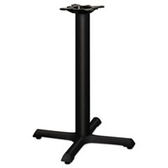Single Column Cast Iron Base, 22w x 22d x 27-7/8h, Black