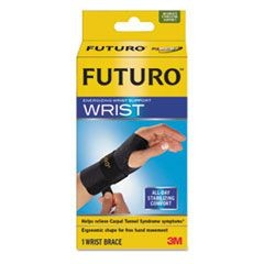 "Energizing Wrist Support, S/M, Fits Left Wrists 5 1/2""- 6 3/4"", Black"