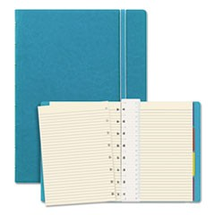 Notebook, College Rule, Aqua Cover, 8 1/4 x 5 13/16, 112 Sheets/Pad