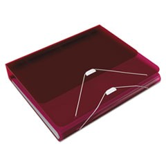 "DUO 2-in-1 Binder Organizer, 11 x 8 1/2, 1"" Capacity, Burgundy"