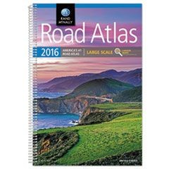 Large Scale Road Atlas, North America+Puerto Rico, Large Type, Soft Cover