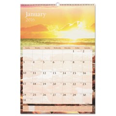 Scenic Monthly Wall Calendar, 15 1/2 x 22 3/4, 2016
