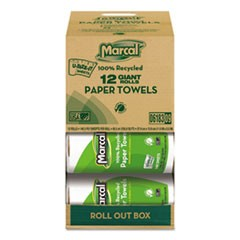 100% Recycled Roll Towels, 2-Ply, 5 1/2 x 11, 140 Sheets, 12 Rolls/Carton