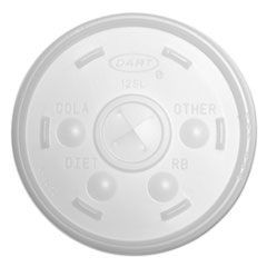 Plastic Lids, for 12oz Hot/Cold Foam Cups, Slip-Thru Lid, White, 1000/Carton