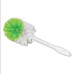 "Round Bowl Brush, 11"" Handle, 3 1/4"" dia. Head, Plastic, White, 3/Box"