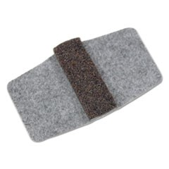 Wrap Around Felt Floor Savers, Rectangular, 7.25w x 1d x 8h, Gray/Black, 16/Pack
