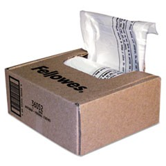 Shredder Waste Bags, 6-7 gal Capacity, 100/Carton