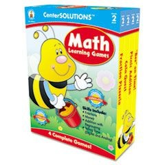 Math Learning Games, Four Game Boards, 2-4 Players, Grade 2