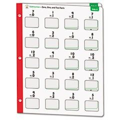 Math Windows, Subtraction, Five Write-On/Wipe-Away Cards per Pack
