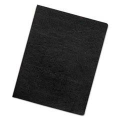 Executive Leather-Like Presentation Cover, Round, 11-1/4 x 8-3/4, Black, 50/PK