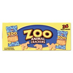 Zoo Animal Crackers, Original, 2 oz Pack, 36 Packs/Box