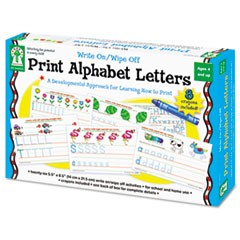 Write-On/Wipe-Off Print Alphabet Letters Activity Set, Ages 4 and Up