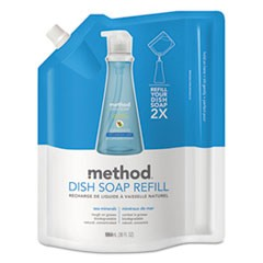 Dish Pump Refill, Sea Minerals, 36 oz Pouch, 6/Carton