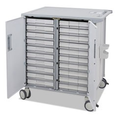 StyleView Transfer Cart, 37.5w x 28d x 41.25h, White/Gray
