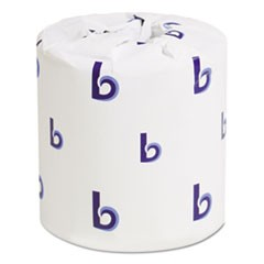 1Bathroom Tissue, Standard, Septic Safe, 2-Ply, White, 4 x 3, 500 Sheets/Roll, 96/Carton