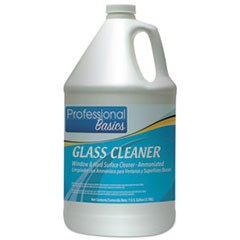 Professional Basics Glass Cleaner, 1 gal Bottle, 4/Carton