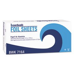 "Heavy-Duty Aluminum Foil Pop-Up Sheets, 12"" x 10 3/4"", 200/Box, 12 Boxes/Carton"
