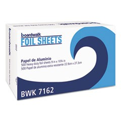 "Standard Aluminum Foil Pop-Up Sheets, 9"" x 10 3/4"", 500/Box, 6 Boxes/Carton"