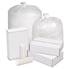 High Density Can Liners, 20-30 gal, 16 mic, 30 x 37, Natural, 250/Carton