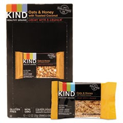 Healthy Grains Bar, Oats and Honey with Toasted Coconut, 1.2 oz, 12/Box