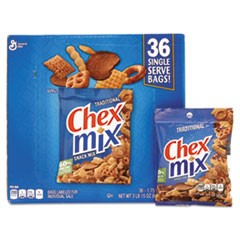 Traditional Snack Mix, 1.75 oz Snack Pack, 36 Packs/Box
