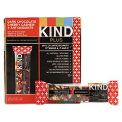 Plus Nutrition Boost Bar, Dk ChocolateCherryCashew/Antioxidants, 1.4 oz, 12/Box