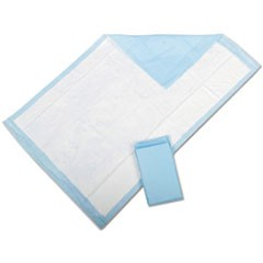 "1Protection Plus Disposable Underpads, 23"" x 36"", Blue, 25/Bag"
