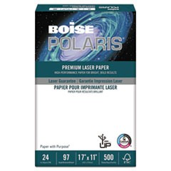 POLARIS Premium Laser Paper, 96 Bright, 24lb, 11 x 17, White, 500 Sheets