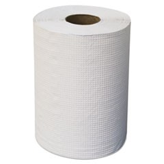 "Hardwound Roll Towels, 7 7/8"" x 300 ft, White, 12/Carton"