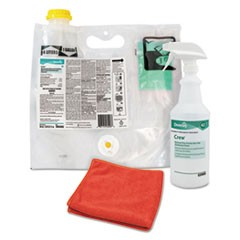 Crew Restroom Non-Acid Disinfectant Cleaner, Fresh, 0.12 L Smart Mix Pack
