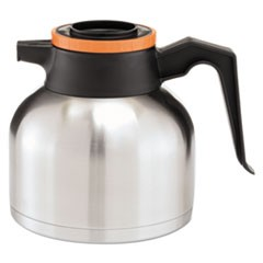 11.9 Liter Thermal Carafe, Stainless Steel/ Black and Orange (Decaf)