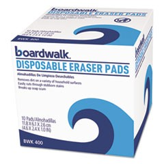 Disposable Eraser Pads, 10/Box