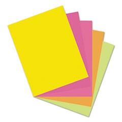 "Pacon Premium Tagboard, 5 Assorted Hyper Colors, 8-1/2"" x 11"", 50 Sheets"