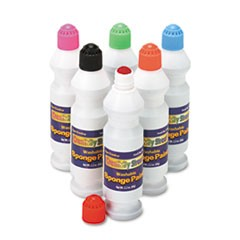 Creativity Street Sponge Paint Set, 6 Assorted Colors, 2.2 fl. oz., 6 Pieces