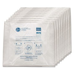 Disposable Vacuum Bags, Hepa CC1, 10PK/EA