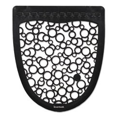 Urinal Mat 2.0, Rubber, 17 1/2 x 20, Black/White, 6/Carton