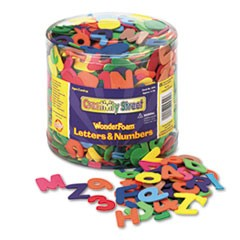 Wonderfoam Letters and Numbers, 1/2 Lb. Tub, Approximately 1,500 Pieces
