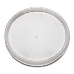 Plastic Lids for Foam Cups, Bowls and Containers, Flat, Vented, Fits 6-32 oz, Translucent, 1,000/Carton