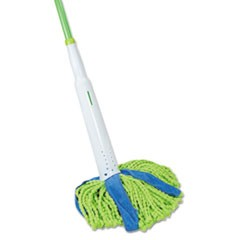 "Cone Mop Supreme, 8"" Wide, 31 3/4"" Steel Handle, Green/Blue, Each"