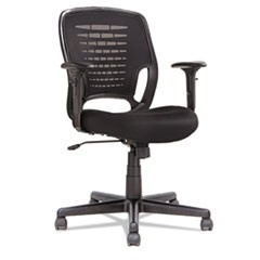 Swivel/Tilt Mesh Task Chair, Height Adjustable T-Bar Arms, Black